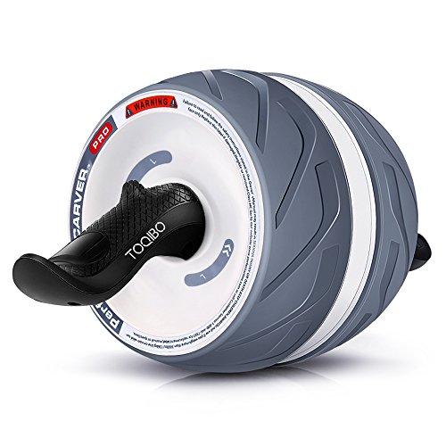 TOQIBO 腹筋ローラー リバウンド機能付き フィットネスローラー エクササイズローラー 腹筋運動マシーン最強腹筋マシーン 超静音 耐摩 滑り止めのTPR材料 肉体改造 膝を保護マット付き耐荷重400KG