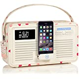 VQ Retro Mk II DAB+ Digital Radio with FM, Bluetooth, 8 Pin Dock & Alarm Clock - Compatible with Apple iPhone – Emma Bridgewater Pink Hearts