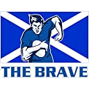 Painting Illustration Sport Scotland Rugby Football Flag Brave Canvas Print