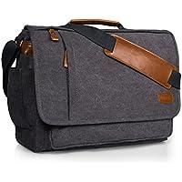 Estarer Laptop Messenger Bag 14-17.3 Inch Water-Resistance Canvas Shoulder Bag for Work College …