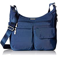 Baggallini Everywhere Lightweight Crossbody Bag - Multi-Pocketed, Spacious Water-Resistant Travel Purse with RFID Wristlet