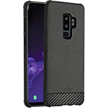 Samsung Galaxy S9 Plus Case, ProCase Slim Hybrid Shockproof Protective Case Anti-Scratch Cushion Bumper with Reinforced Corners, Anti-Fingerprint Back Cover for 6.2 Inch Galaxy S9+ 2018 -Black