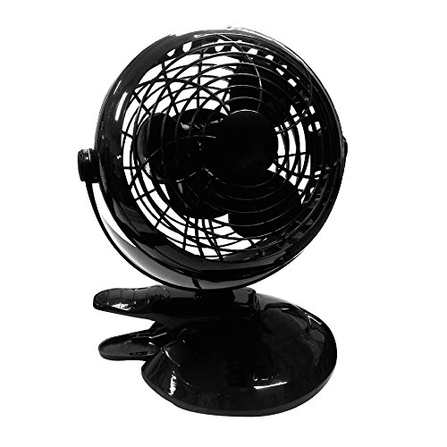 メルテック USBビッグファン(車内扇風機) ブラック DC12/24V クリップ/スタンド 風量2...