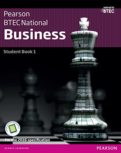 BTEC Nationals Business Student Book 1: For the 2016 specifications (BTEC Nationals Business 2016)