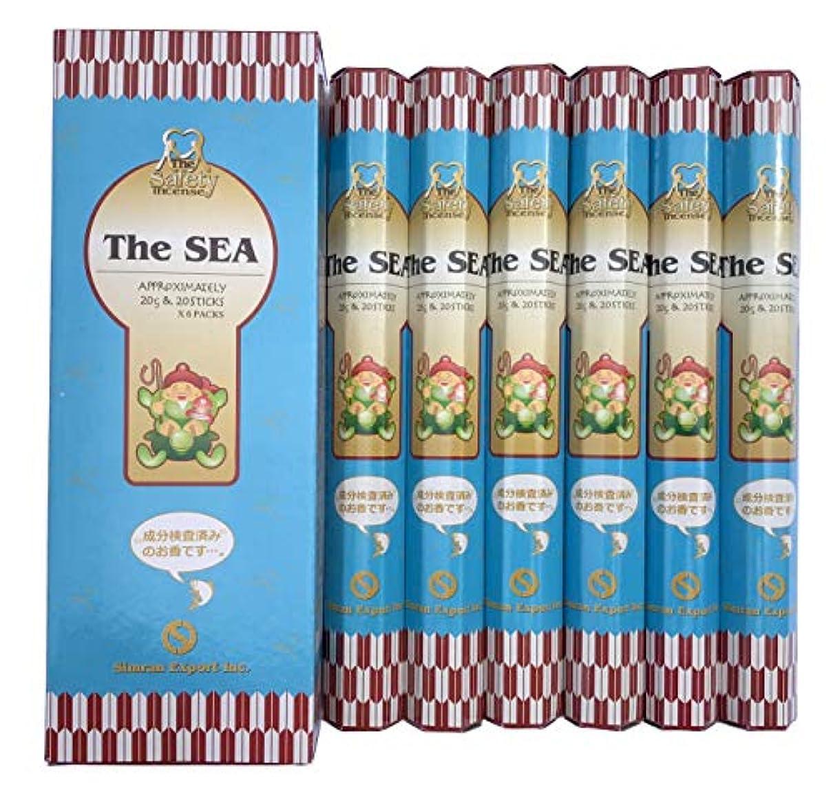カーペット果てしない見捨てるインド香 The SEA ザ?シー 潮風の香り スティック 6個セット シムラン社 成分検査済み