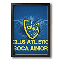 Club Atl?tico Boca Juniors フレーム装飾画 絵画 キャンバスアート アートパネル 壁掛け 絵 モダンアート 壁飾り ポスター 壁画 背景 枠付き A4 木製 ファッション
