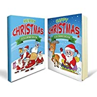Christmas Coloring Books Bundle - Two Great Christmas Coloring Books for Kids - Includes a Merry Christmas Coloring Book and a Happy Christmas Coloring Book for Kids of All Ages with 80+ Great Images - Perfect for Boys and Girls and Definitely Mummy Approved by Speedy Coloring Books [並行輸入品]