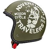 マルシン(MARUSHIN) バイクヘルメット ジェット MCJ3 レオ オープンジェット ナチュラル オリーブ Lサイズ (59-60cm) 3005635
