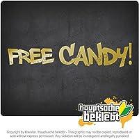 無料キャンディー Free Candy 20cm x 4cm 15色 - ネオン+クロム! ステッカービニールオートバイ