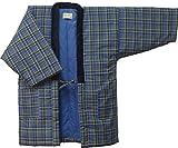 ゆったり大判LLサイズ:久留米手作り紳士用大判半纏 (LL-152)