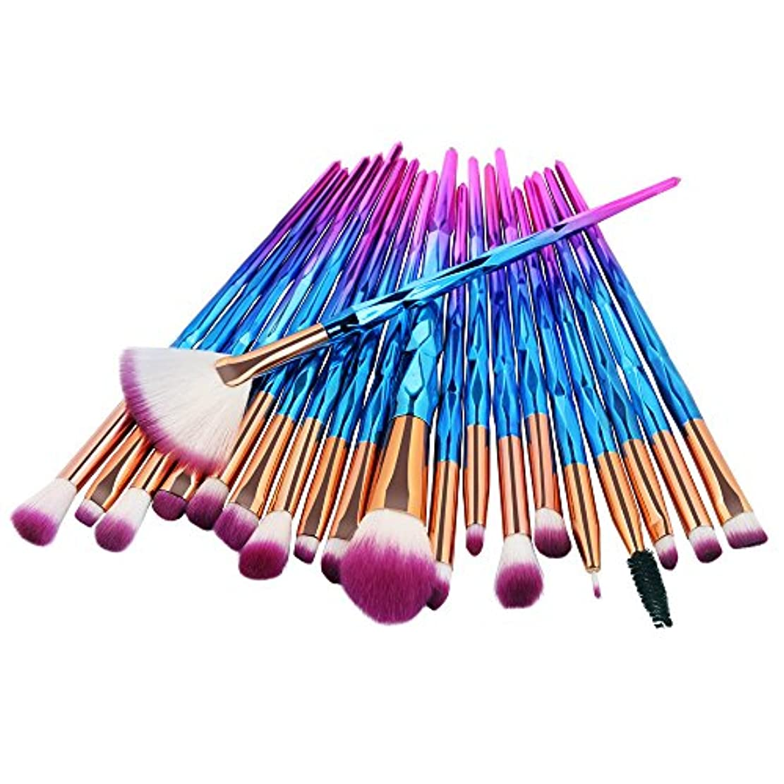 ために高原に賛成Feteso メイクブラシ メイクブラシセット 多色 20 本セット 人気 化粧ブラシ ふわふわ 敏感肌適用 メイク道具 プレゼント アイシャドウ アイライナー Makeup Brushes Set