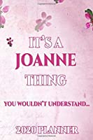 JOANNE: Personalised Name Planner 2020 Gift For Women & Girls 100 Pages (Pink Floral Design) 2020 Weekly Planner Monthly Planner