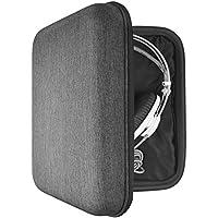 AKG K701, K702, Q701, Sennheiser HD800, HD600, HD650, Beyerdynamic DT990, T1, DT880pro, ATH W3000ANV, W5000, Beats Studio ヘッドホンキャリングケース / バッグ、ケーブル、 AMP、部品および付属品を収容する余地がある / Headphone Full Size Hard Carrying Case