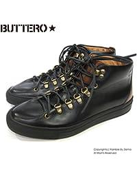 【BUTTERO ブッテロ】 レザースニーカー 本革 (B6111) ブラック
