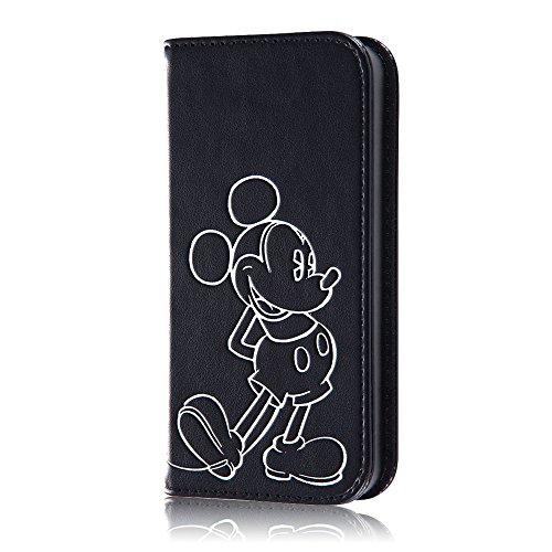 レイ・アウト iPhone SE/5s/5 ケース ディズニー 手帳型ケース ホットスタンプ ミッキーマウス RT-DP11I/MK