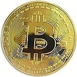 Happinessplus ビットコイン金メッキBitcoin仮想通貨 コイングッズギフトBTCコインアートコレクション…