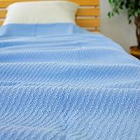 タオルケット コットン100% シングルサイズ140×190cm 215-110 (ブルー)
