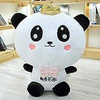 黒と白のパンダの人形の人形ぬいぐるみクラウンカップルのパンダの人形の睡眠大きな枕子供のギフト,Smile,52cm