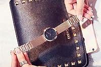 女性婦人用腕時計は、女性のシンプルなロマンチックな防水スポーツ多機能ブラックブルーホワイトクロノグラフ手首腕時計のための腕時計腕時計
