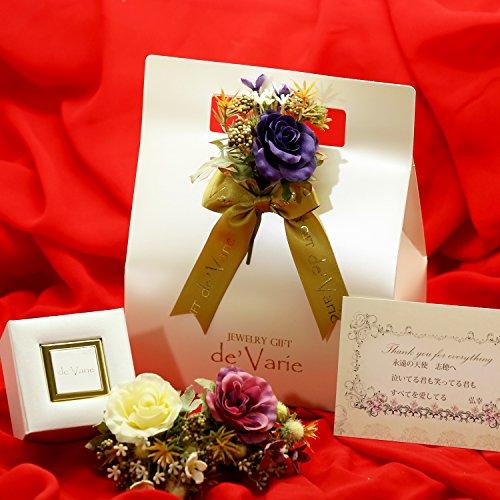 [デバリエ] 誕生日プレゼント 女性 人気 シルバー925 プリザーブドフラワー ネックレス レディースセット品(シンデレラハイヒール1組 ネックレス1組)y441-TOP