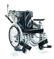【非課税】カワムラサイクル 中床型簡易モジュール車いす スイングアウト式 シート幅40cm 低床22インチ シルバー×エコブラック (KZM22-40-41シルバー×No.88) [自走・介助兼用]