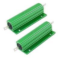 100W 100オームグリーンアルミ収納された巻線型抵抗器2個