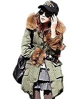 3色3サイズ フェイクファーオシャレダウンコート 大きいポケット付モッズコート /ミリタリージャケット/レディース