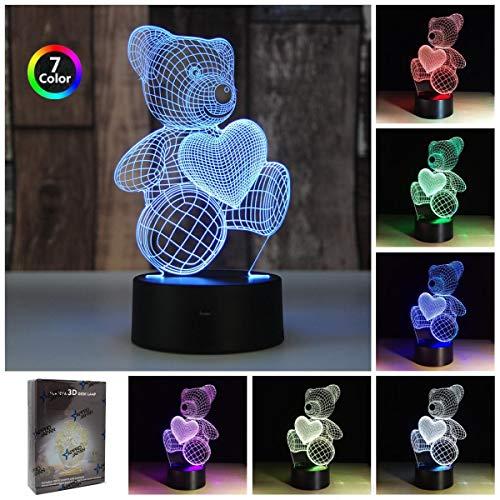 3D LED イルミネーション ナイトライト ランプ照明 か...