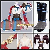 甲鉄城のカバネリ 無名 むめい 戦闘服 ウィッグ、靴付き  コスチューム、コスプレ衣装