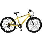 HUMMER(ハマー) マウンテンバイク 26インチ FAT BIKE TANK3.0 ATB 26×3.0インチ極太タイヤ シマノ製6段変速機搭載 前後Vブレーキシステム イエロー 13118-0799
