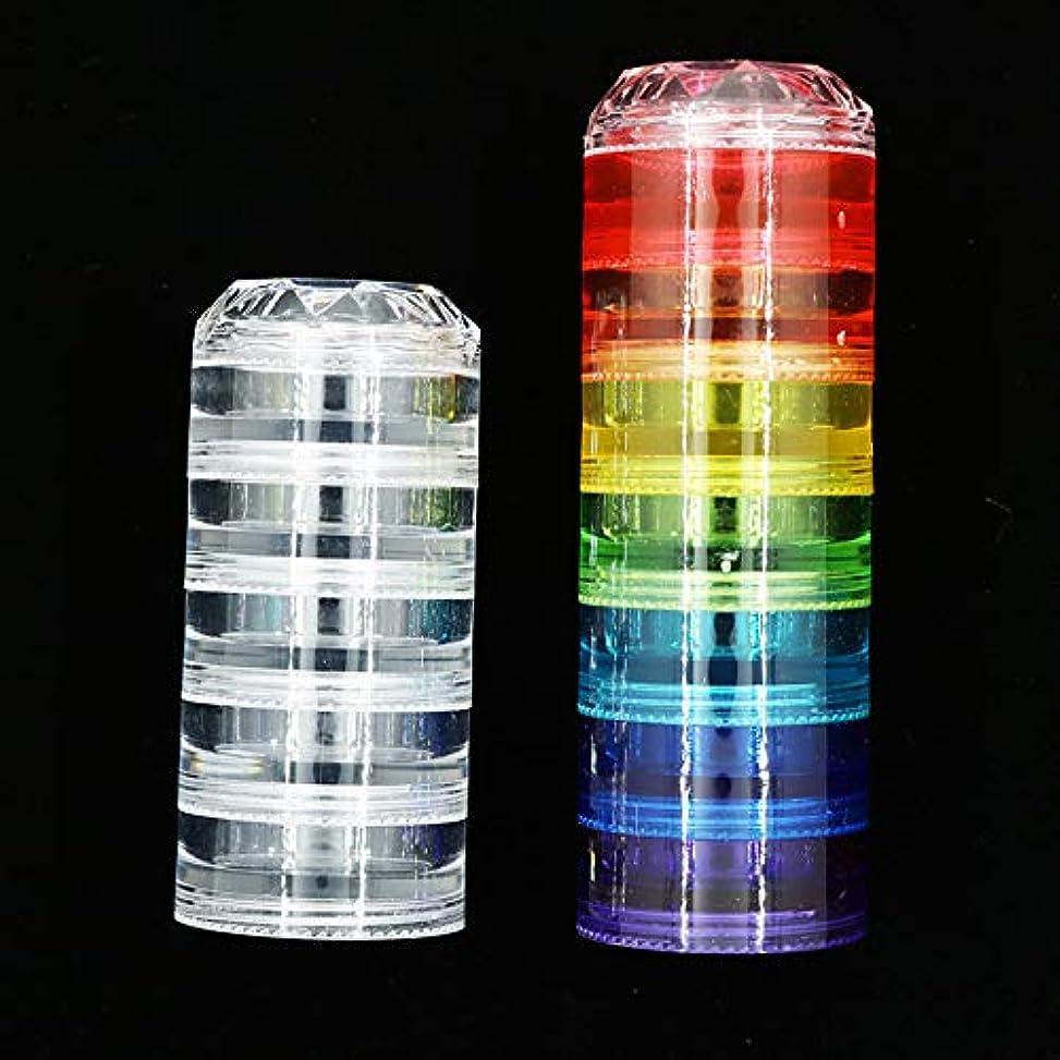 熟したブリッジ器官新しいダイヤモンドシャム空箱セット12層レインボー多色ネイルジュエリーアクセサリー収納ボックス小さな部品瓶ツール