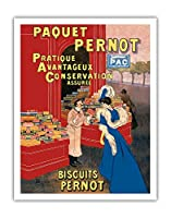 Pernotパッケージ - ビスケットPernot - フランスビスケット会社 - ビンテージな広告ポスター によって作成された リオネト・カピエロ c.1905 - アートポスター - 28cm x 36cm