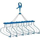 ニシダ 洗濯ハンガー スキップハンガー11連式プレミアム ハンガー11本 ブルー 217338