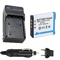バッテリーと充電器for Fujifilm np-50a np-50Li - Ion充電式バッテリーパック