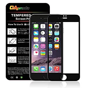 OAproda iPhone 8 ガラスフィルム全面 アイフォン 8 保護フィルム液晶強化 全面保護/キズ防止/耐衝撃 /3Dtouch/指紋防止【4.7inch 黒】