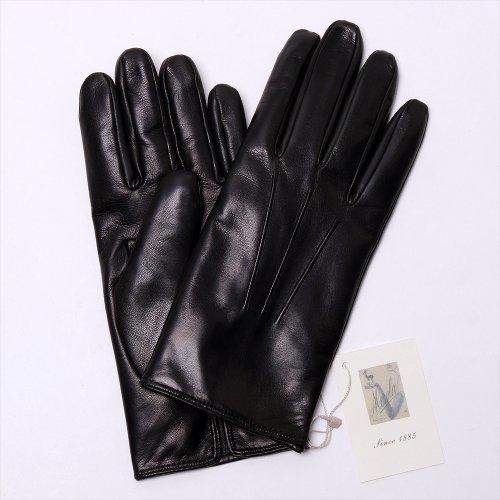 カシミヤ裏地 ラムナッパグローブ(ブラック) 手袋 メローラ