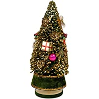 Splendid音楽ボックスCo。Crushed VelvetクリスマスツリーMusical Figurine Plays We Wish You a Merry Christmas