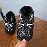 Girl's Winter Snow Boots Outdoor Slip-on Boots for Toddler Little Kids Snow Boots,Comfortable and Warm