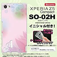 SO02H スマホケース Xperia Z5 Compact カバー エクスペリア Z5 コンパクト ソフトケース イニシャル ぼかし模様 ピンク nk-so02h-tp1593ini D