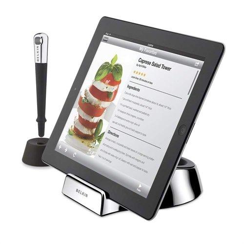 【国内正規代理店品】belkin ベルキン キッチン用iPadスタンド iPad第2世代~第4世代対応 シェフスタンド(スタイラスペン付) F5L099QE