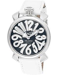 [ガガミラノ]GaGa MILANO 腕時計 マニュアーレ40mm ブラック文字盤  カーフ革ベルト 5020.4-WHT  【並行輸入品】