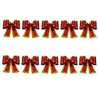ちょう結び 引く蝶結び ギフト ラップ 誕生日 結婚式 パーティー 装飾 全3サイズ - 赤, 大