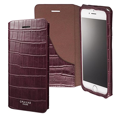 """GRAMAS COLORS """"EURO Passione 3"""" Leather Case for iPhone 7(ブルゴーニュ)"""
