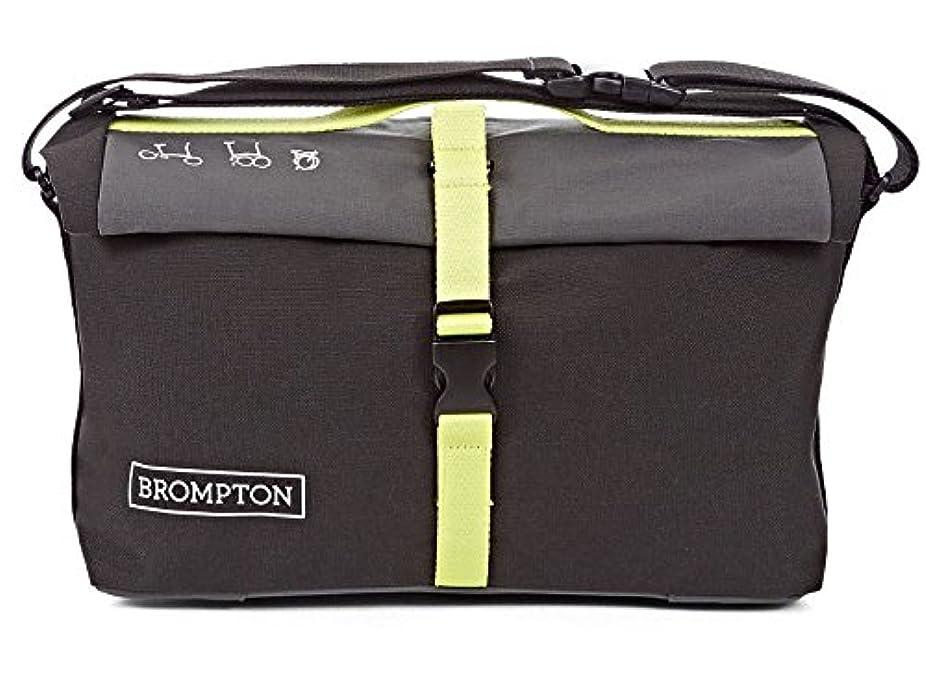 行き当たりばったり押すおじいちゃんBROMPTON(ブロンプトン) ロールトップバッグ (グレー/ブラック/ライムグリーン) ブロンプトン専用フロントバッグ QRTB-GY