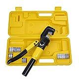Penson cayqk007010油圧ワイヤバッテリーケーブルラグ端子Crimper圧着ツール、9ダイス、10Ton