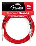 Fender ケーブル Fender® California Instrument Cable, 15', Candy Apple Red