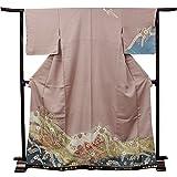 きもの京小町 訪問着 フルセット 19点セット 仕立て上がり 正絹 薄小豆色地辻が花風柄