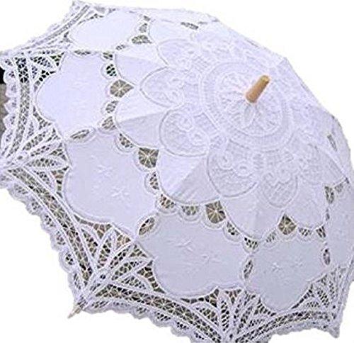 プレクラースナ レディース 日傘 レース刺繍 白...