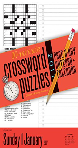 10-minute Crossword Puzzles Notepad 2017 Calendar