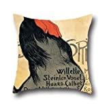 Oil Painting Thテゥophile Alexandre Steinlen - Cocorico Pillowcover 20 X 20 Inches / 50 By 50 Cm Best Choice For Lounge,bench,family,divan,christmas,teens Boys With Twice Sides